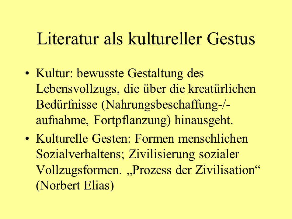 Literatur als kultureller Gestus