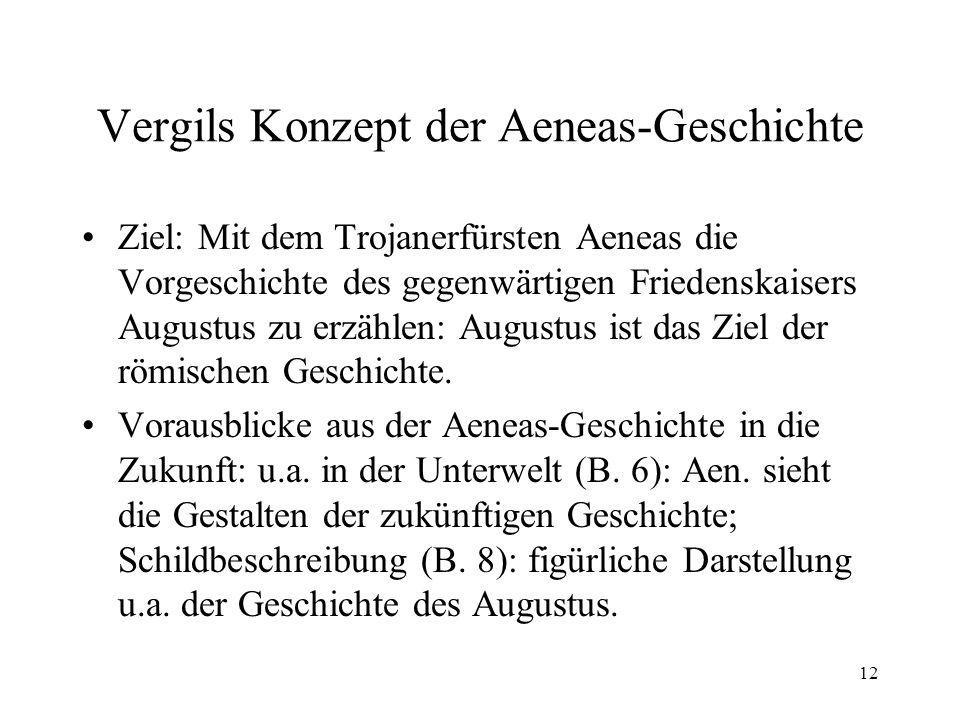 Vergils Konzept der Aeneas-Geschichte