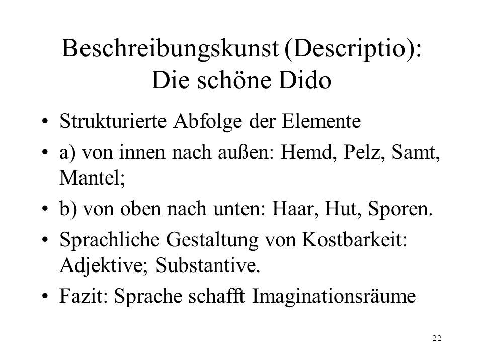 Beschreibungskunst (Descriptio): Die schöne Dido
