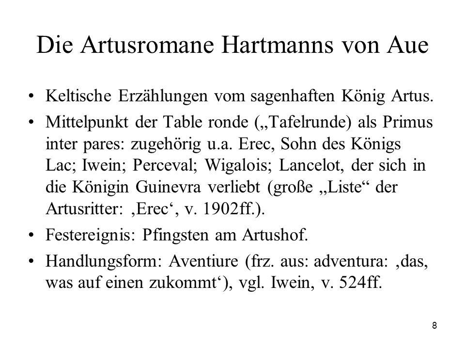 Die Artusromane Hartmanns von Aue
