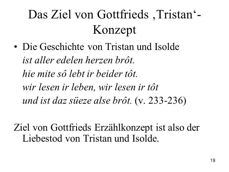 Das Ziel von Gottfrieds 'Tristan'-Konzept