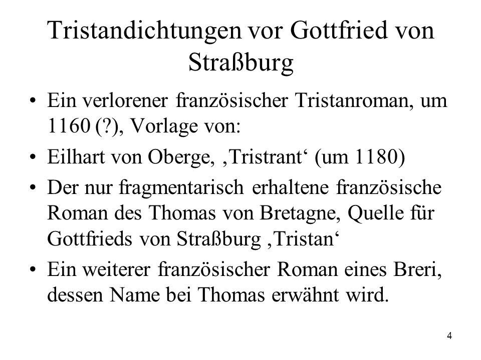Tristandichtungen vor Gottfried von Straßburg