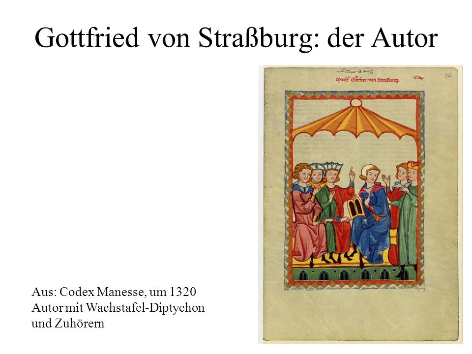 Gottfried von Straßburg: der Autor
