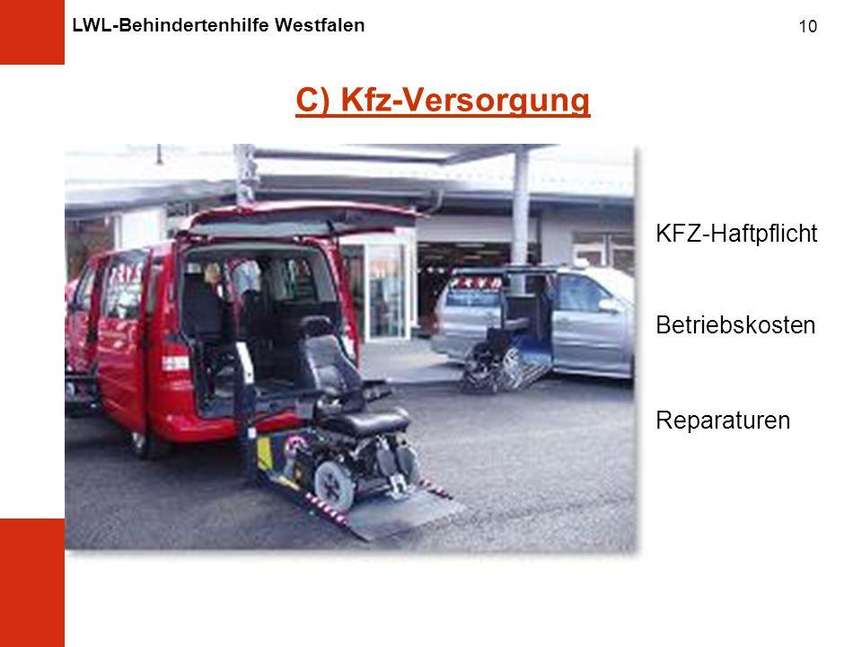 C) Kfz-Versorgung KFZ-Haftpflicht Betriebskosten Reparaturen