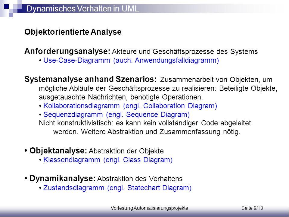 Vorlesung Automatisierungsprojekte Seite 9/13