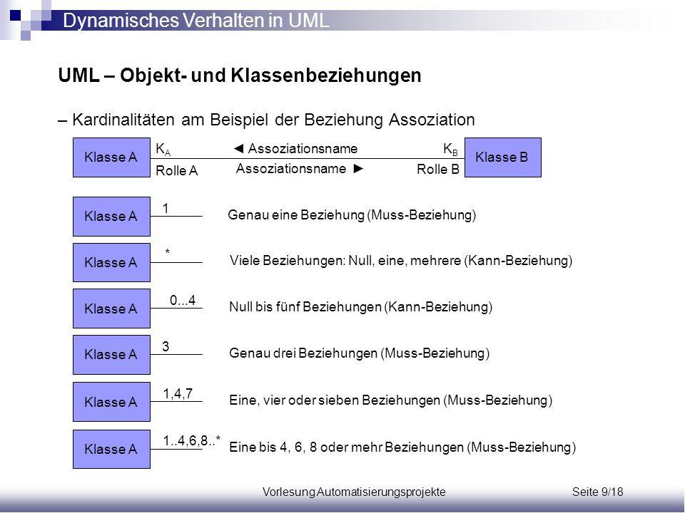 Vorlesung Automatisierungsprojekte Seite 9/18