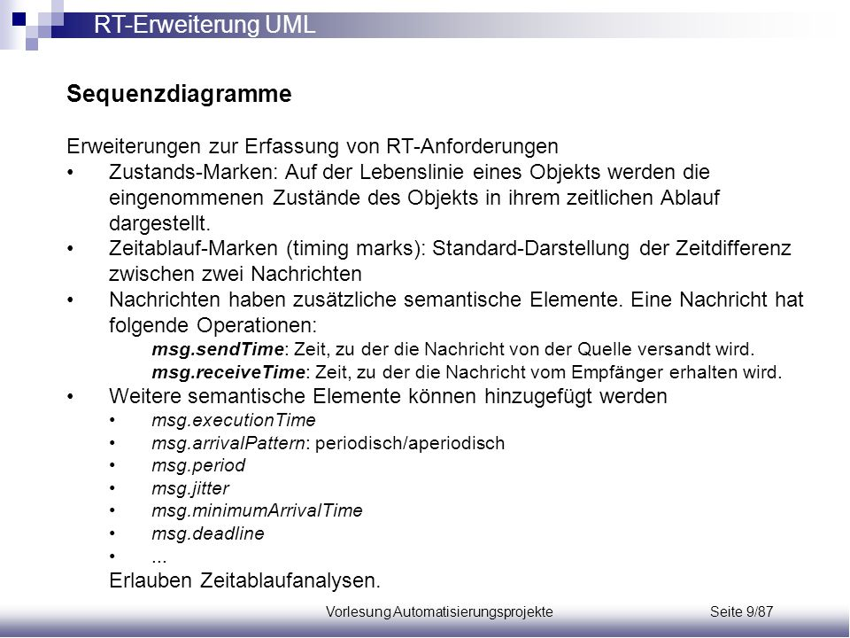 Vorlesung Automatisierungsprojekte Seite 9/87