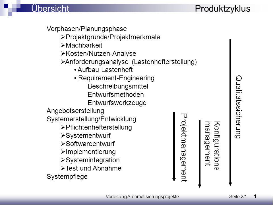 Vorlesung Automatisierungsprojekte Seite 2/1