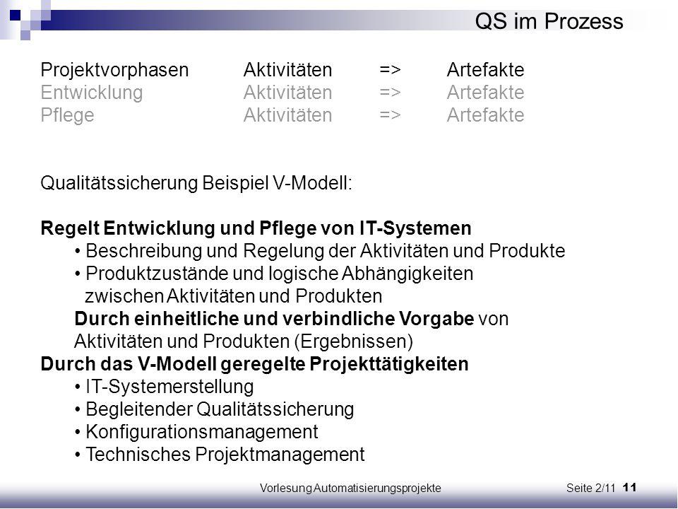Vorlesung Automatisierungsprojekte Seite 2/11