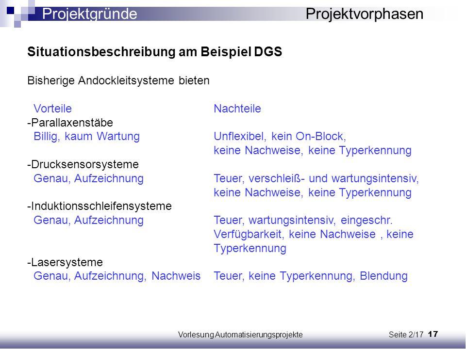 Vorlesung Automatisierungsprojekte Seite 2/17