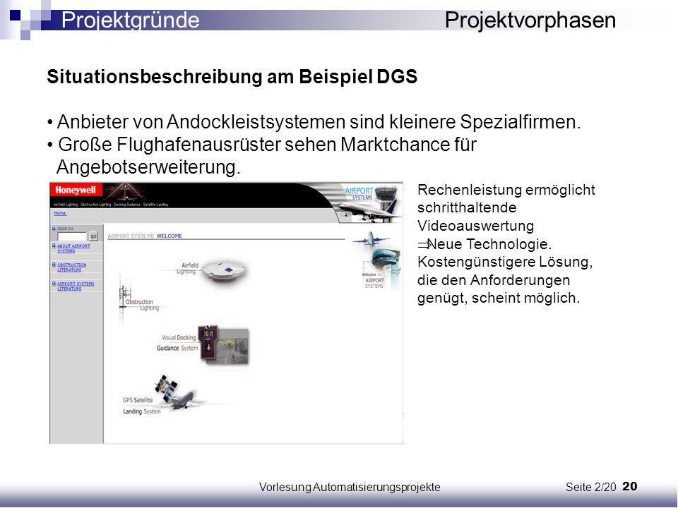 Vorlesung Automatisierungsprojekte Seite 2/20