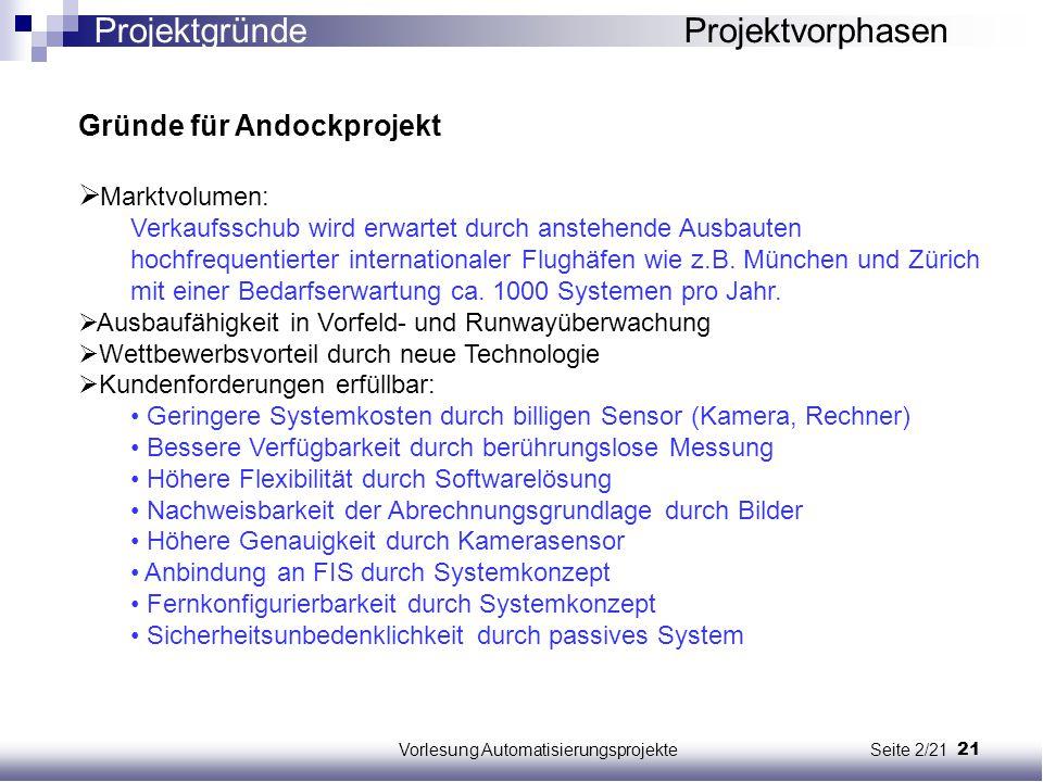 Vorlesung Automatisierungsprojekte Seite 2/21
