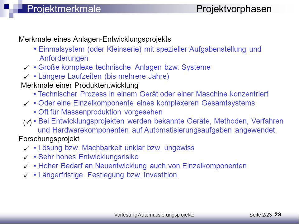 Vorlesung Automatisierungsprojekte Seite 2/23