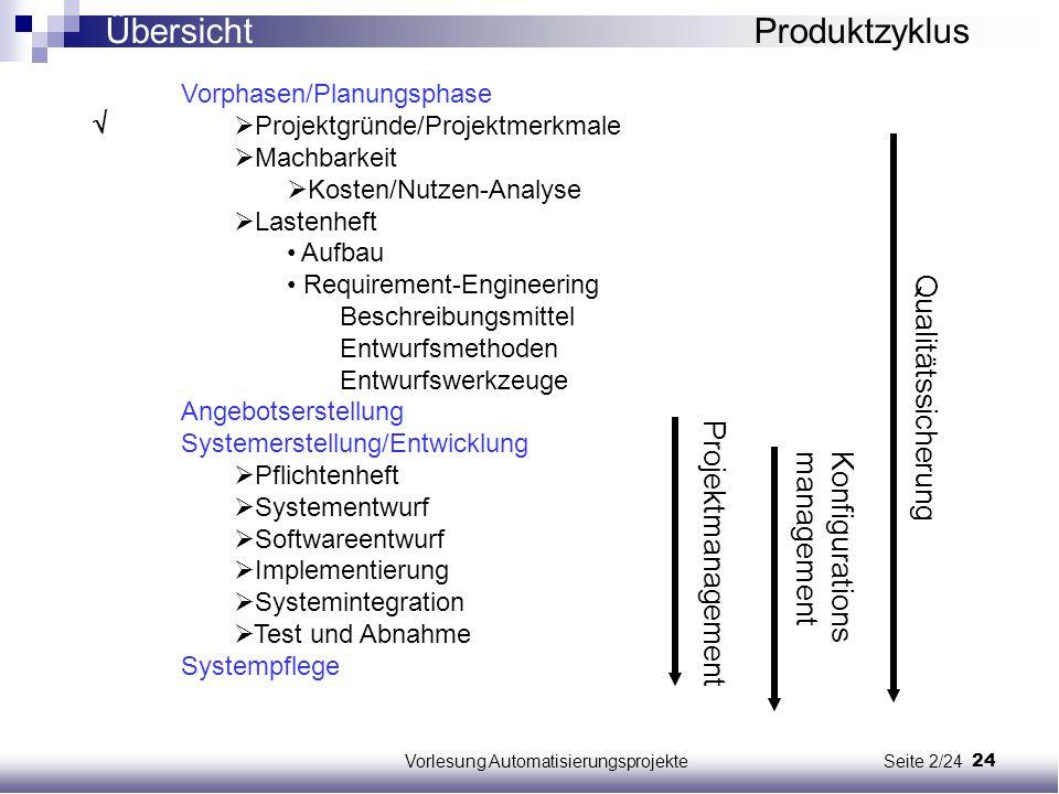 Vorlesung Automatisierungsprojekte Seite 2/24