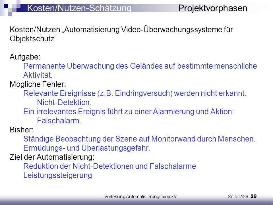 Vorlesung Automatisierungsprojekte Seite 2/29