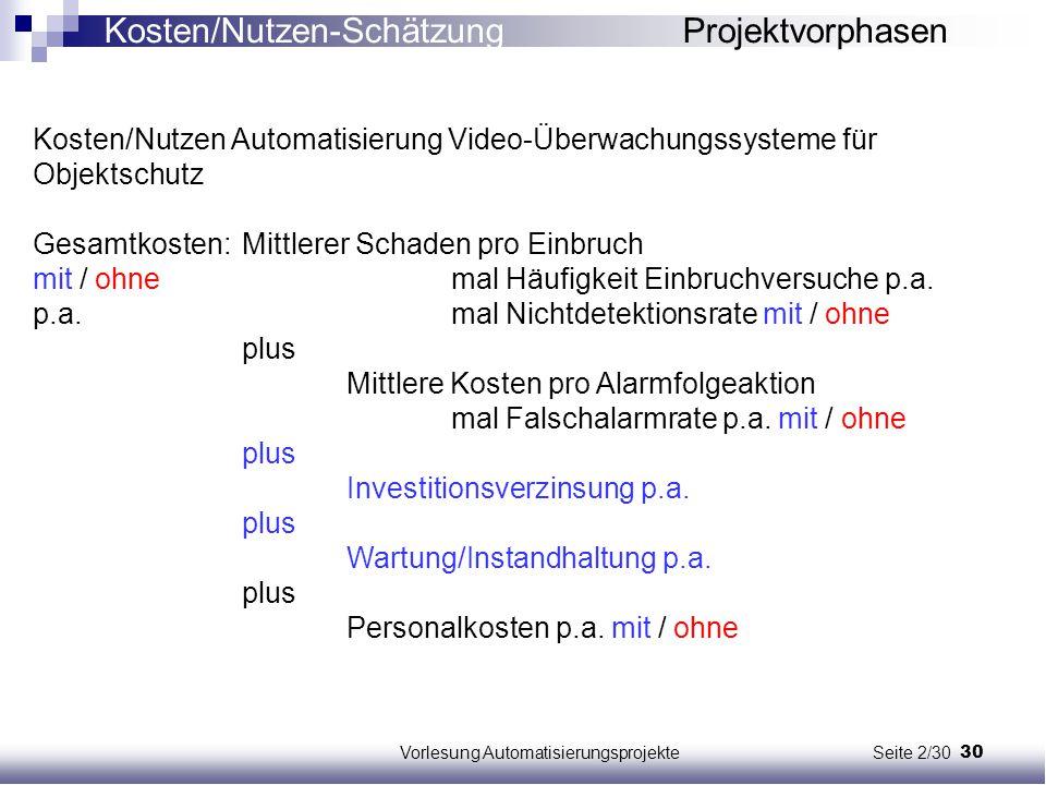 Vorlesung Automatisierungsprojekte Seite 2/30