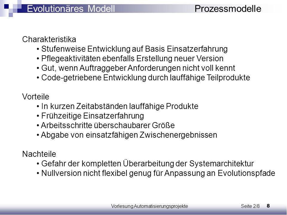 Vorlesung Automatisierungsprojekte Seite 2/8