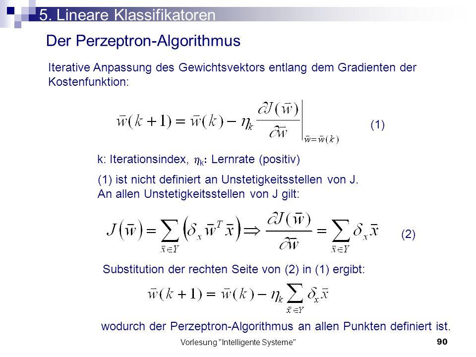 Vorlesung Intelligente Systeme