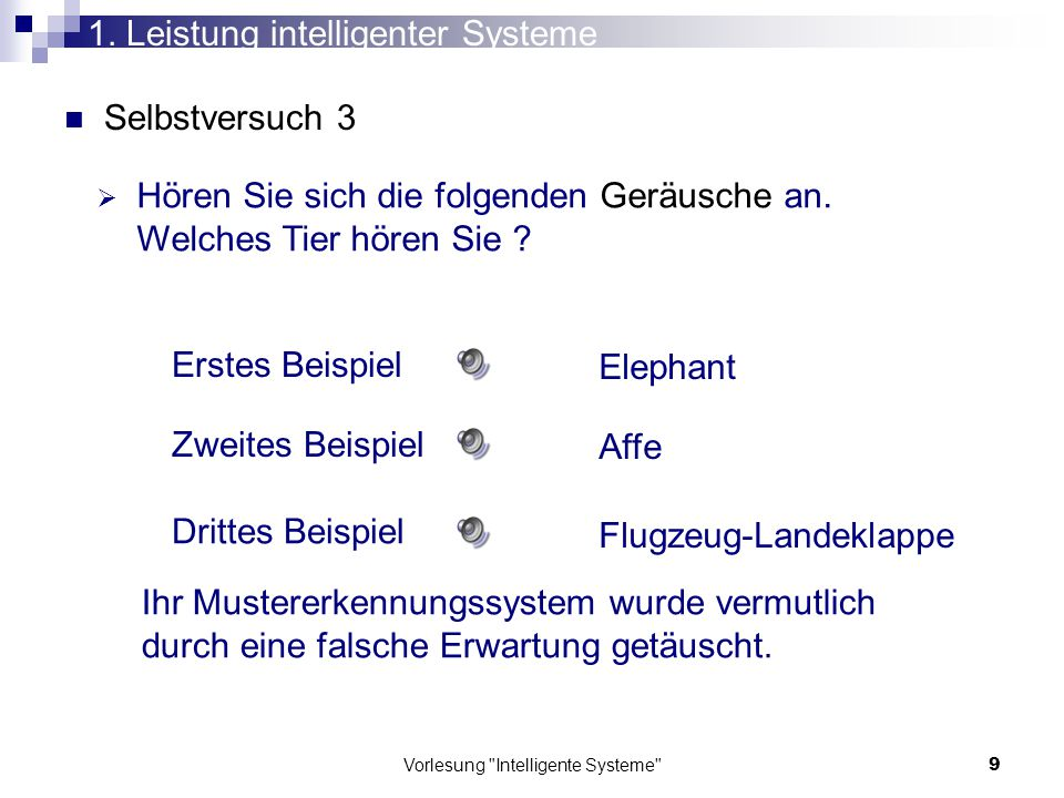 1. Leistung intelligenter Systeme