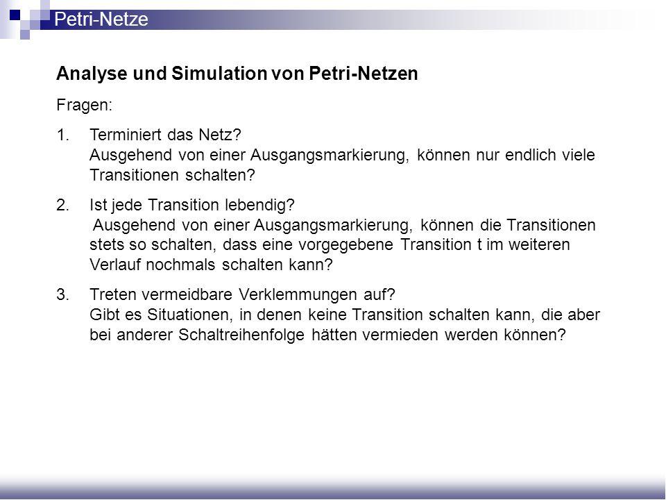 Analyse und Simulation von Petri-Netzen