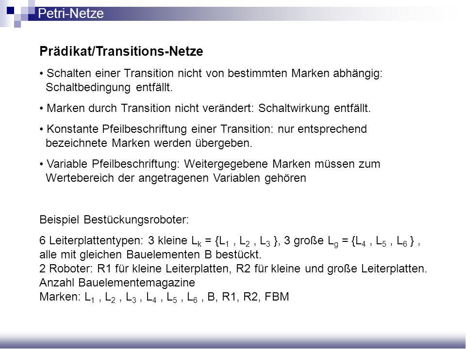Prädikat/Transitions-Netze