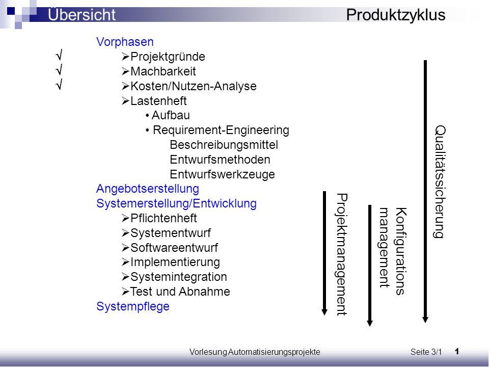 Vorlesung Automatisierungsprojekte Seite 3/1