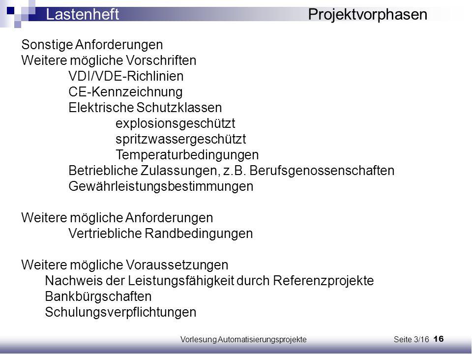 Vorlesung Automatisierungsprojekte Seite 3/16