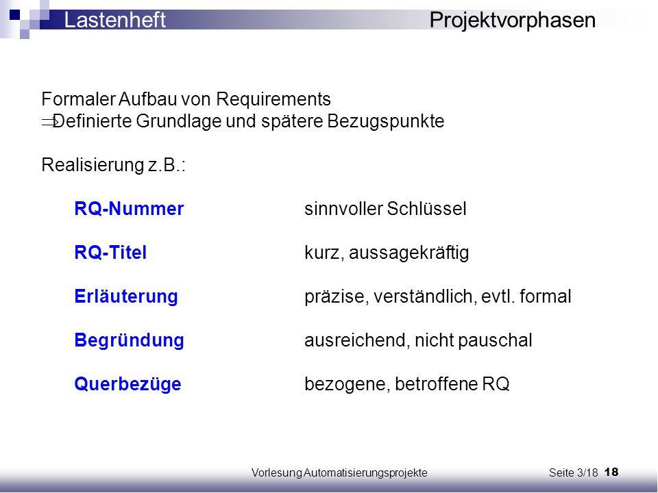 Vorlesung Automatisierungsprojekte Seite 3/18