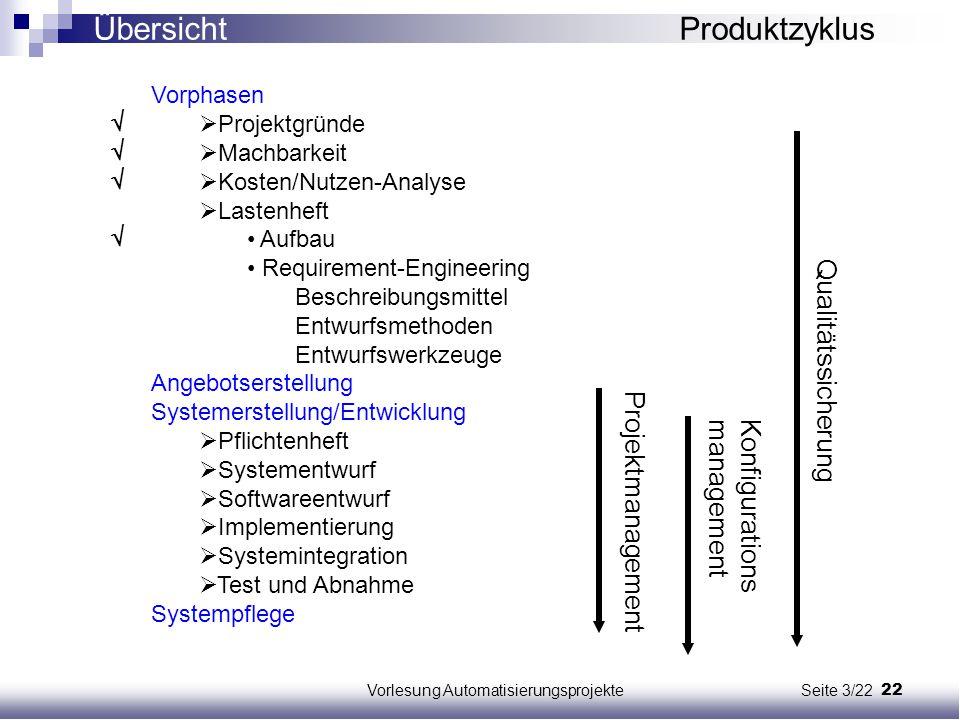 Vorlesung Automatisierungsprojekte Seite 3/22