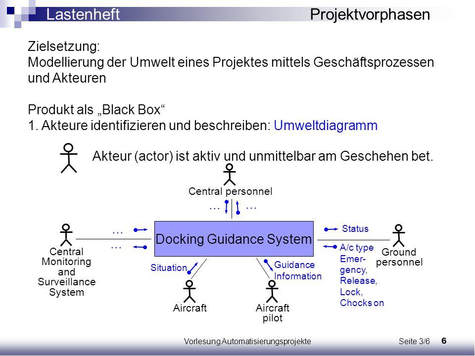 Lastenheft Projektvorphasen