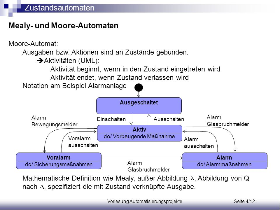Mealy- und Moore-Automaten