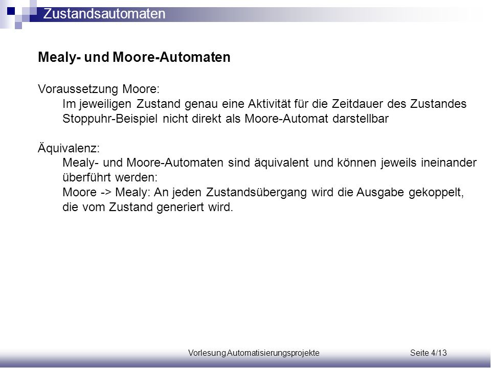 Vorlesung Automatisierungsprojekte Seite 4/13