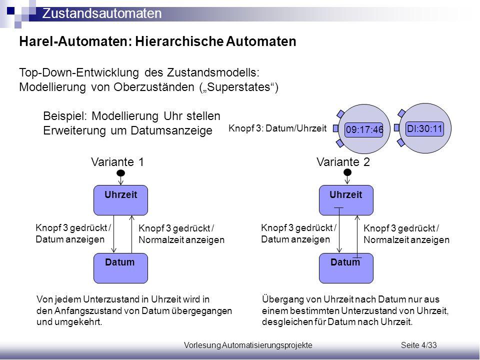 Vorlesung Automatisierungsprojekte Seite 4/33