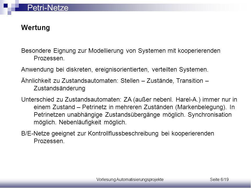 Vorlesung Automatisierungsprojekte Seite 6/19
