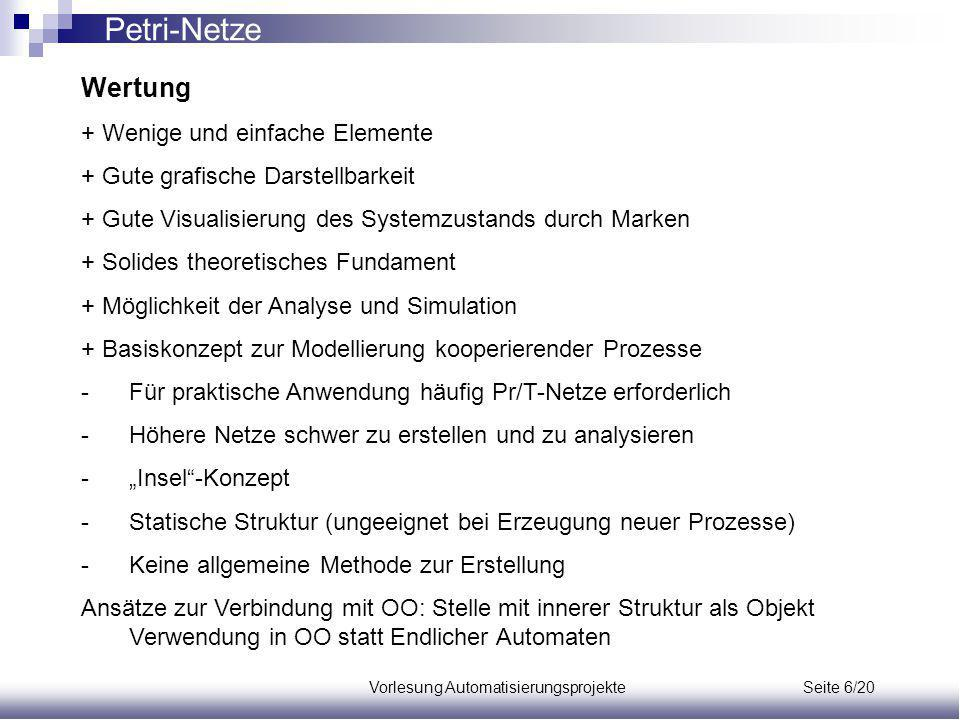 Vorlesung Automatisierungsprojekte Seite 6/20