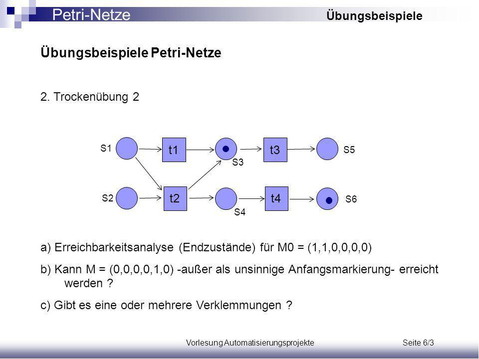 Vorlesung Automatisierungsprojekte Seite 6/3