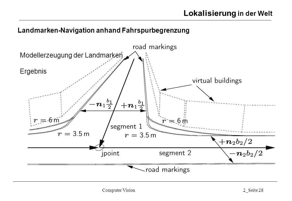 Landmarken-Navigation anhand Fahrspurbegrenzung