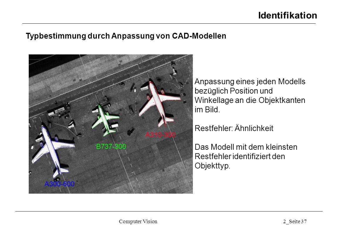 Identifikation Typbestimmung durch Anpassung von CAD-Modellen