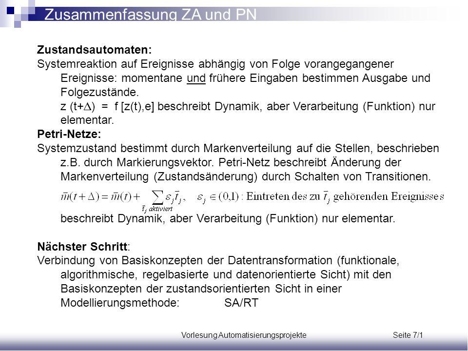 Vorlesung Automatisierungsprojekte Seite 7/1
