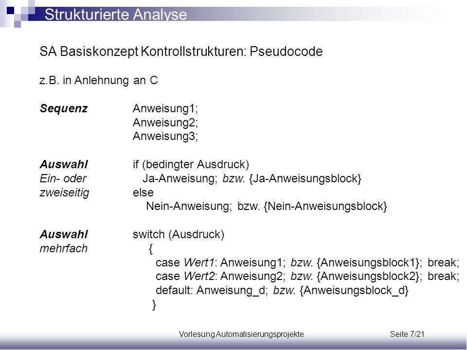 Vorlesung Automatisierungsprojekte Seite 7/21