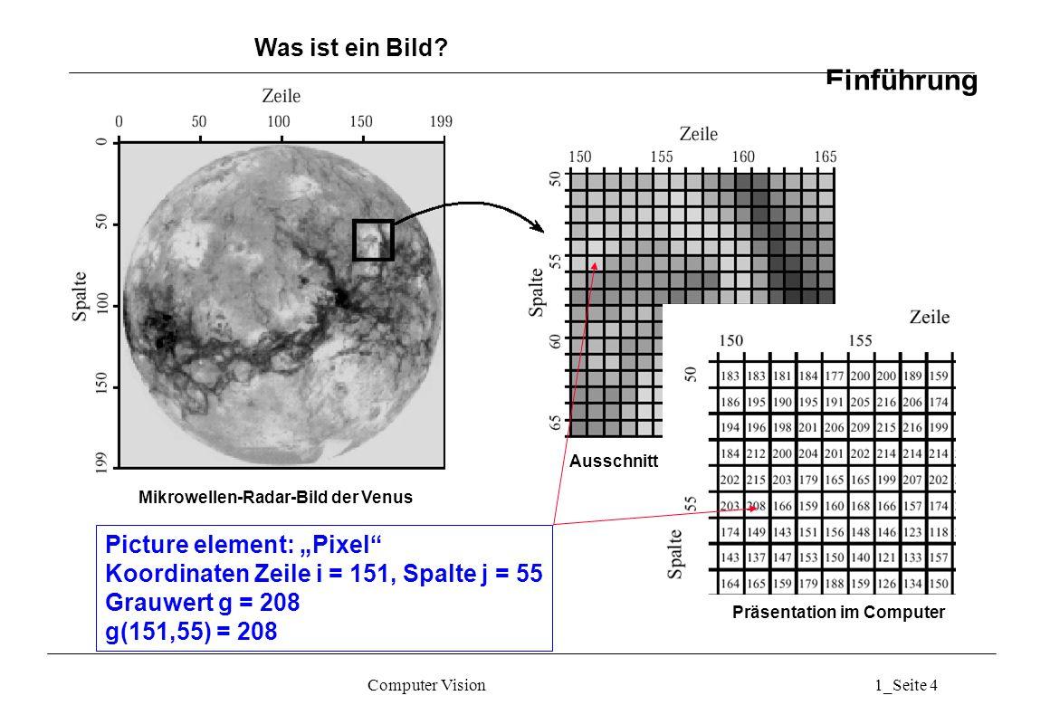 Mikrowellen-Radar-Bild der Venus Präsentation im Computer