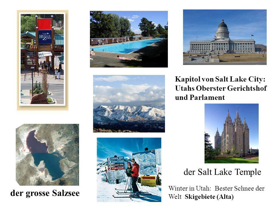 der Salt Lake Temple der grosse Salzsee