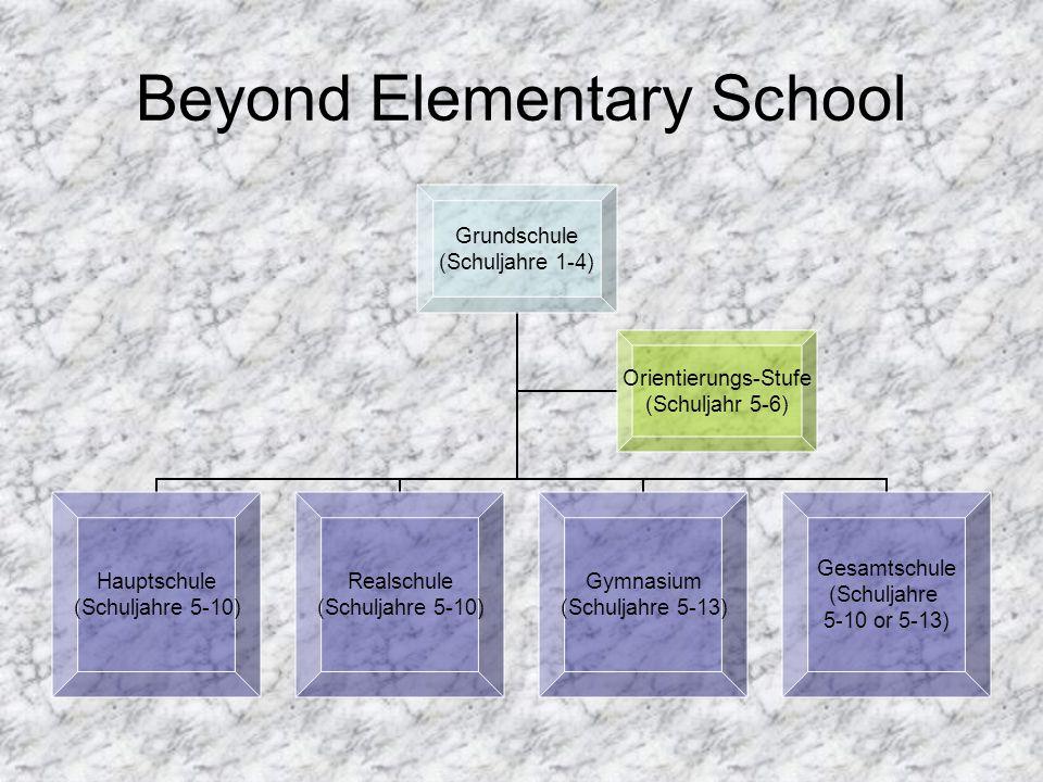 Beyond Elementary School