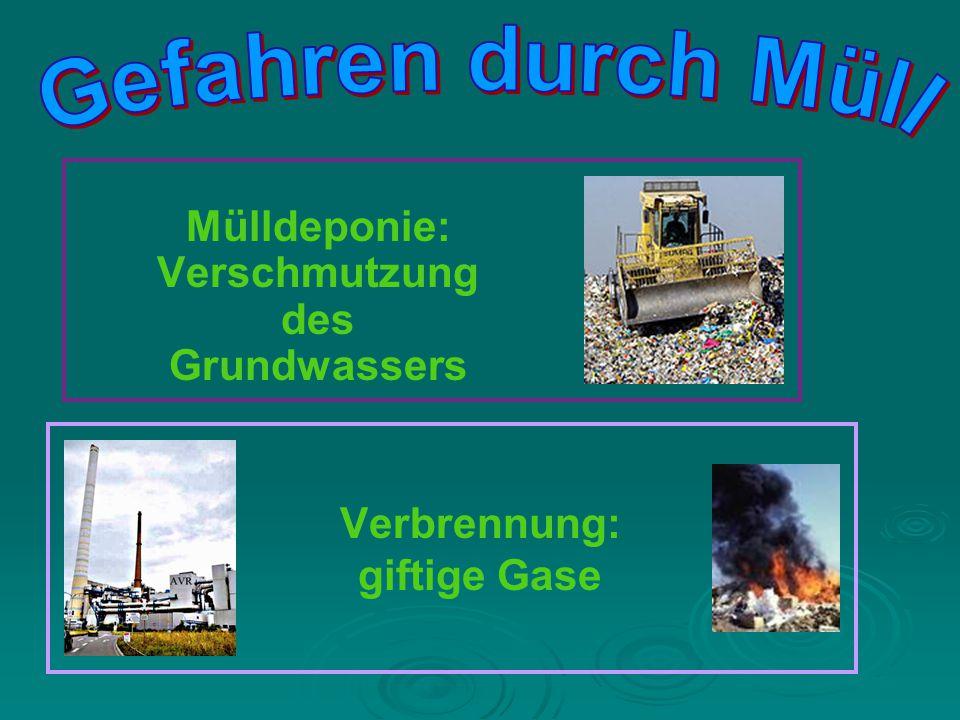 Verbrennung: giftige Gase
