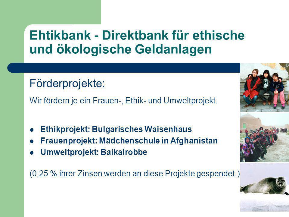 Ehtikbank - Direktbank für ethische und ökologische Geldanlagen