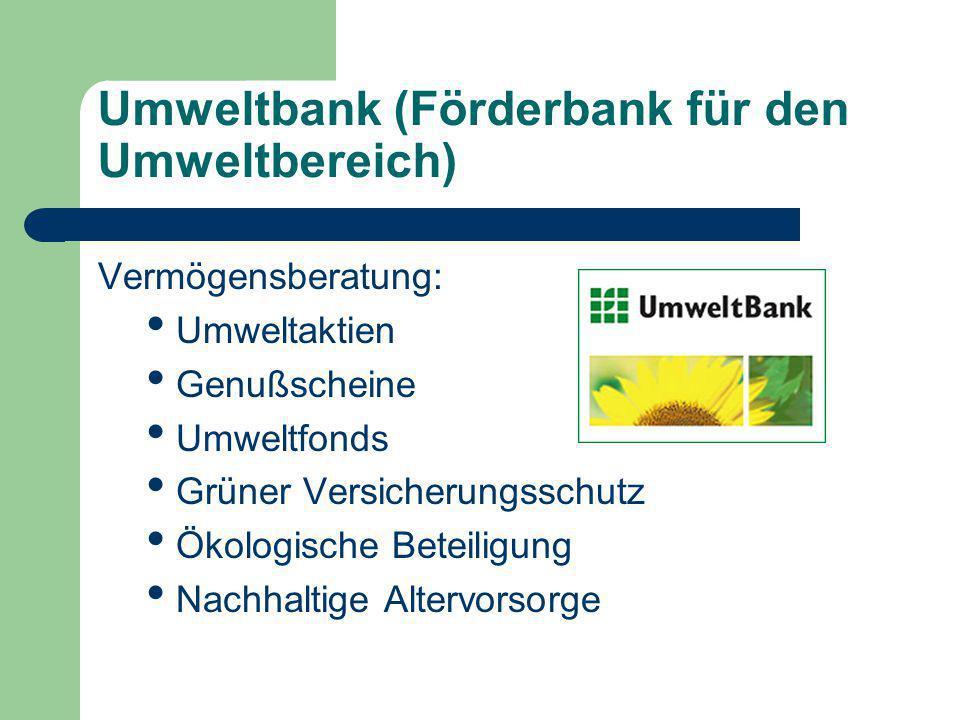 Umweltbank (Förderbank für den Umweltbereich)