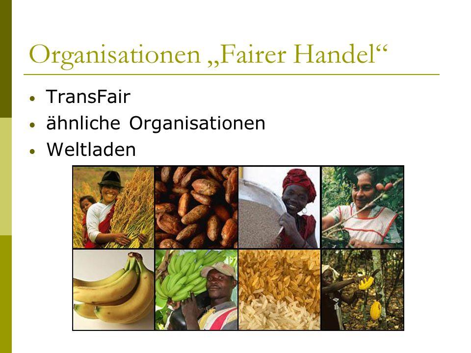 "Organisationen ""Fairer Handel"