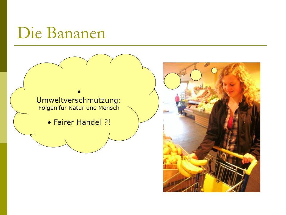 Die Bananen Umweltverschmutzung: Fairer Handel !