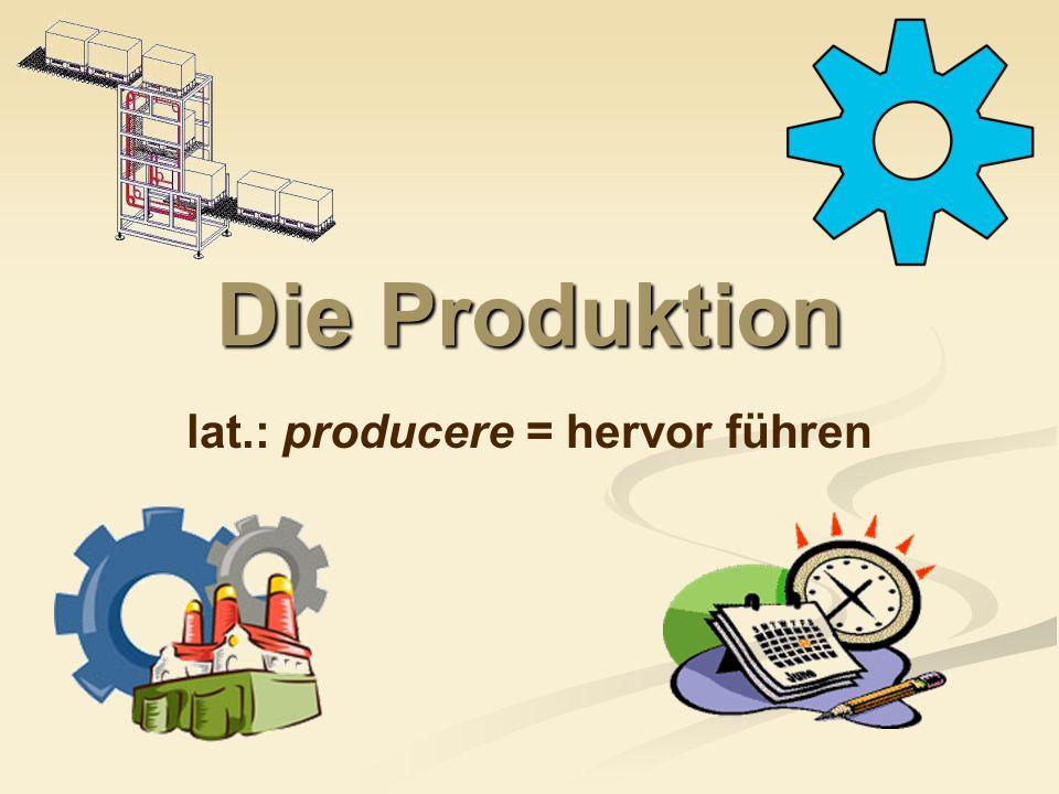 lat.: producere = hervor führen