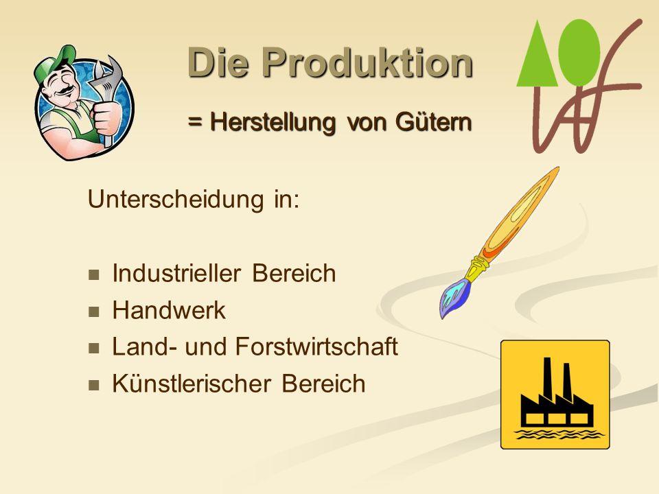 = Herstellung von Gütern